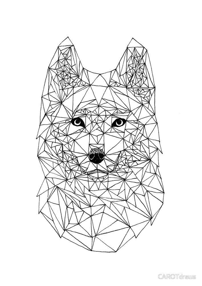Геометрические картинки животных эскизы