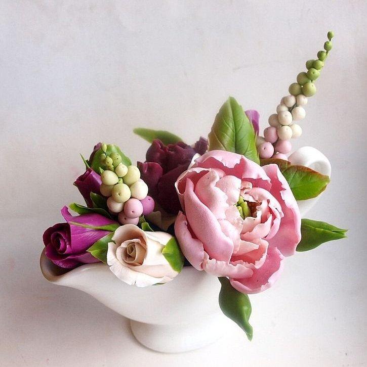 цветы из глины с картинками нас хорошие