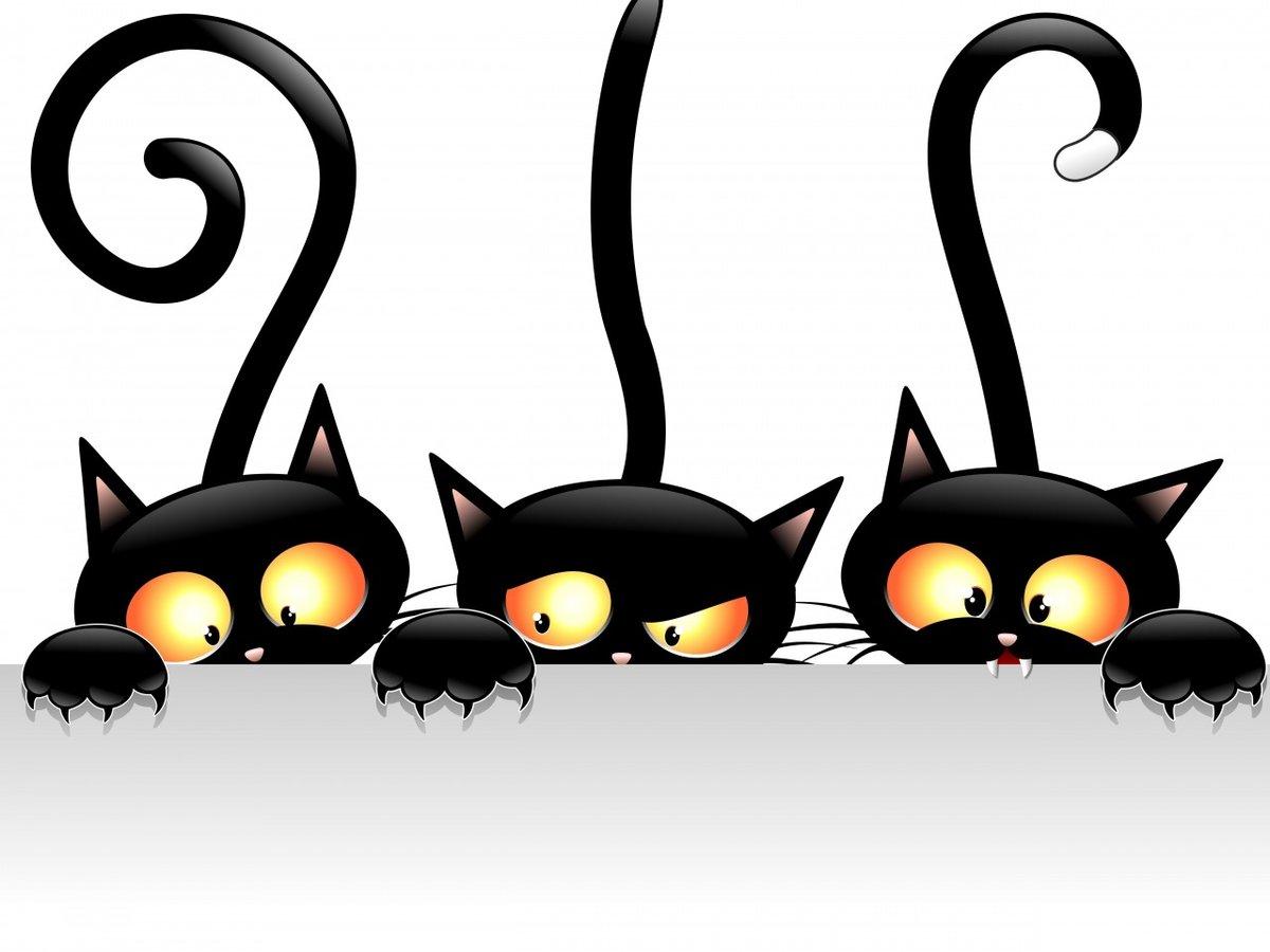 Просто, рисунки векторные с кошкой прикольные