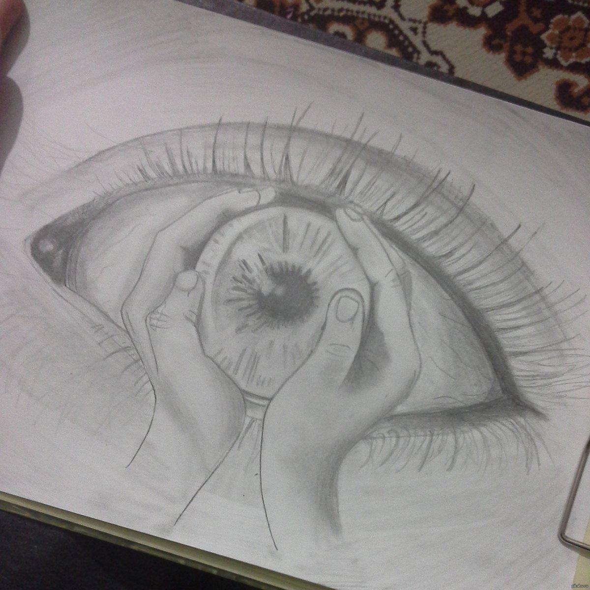 Будто на картинке срисовка