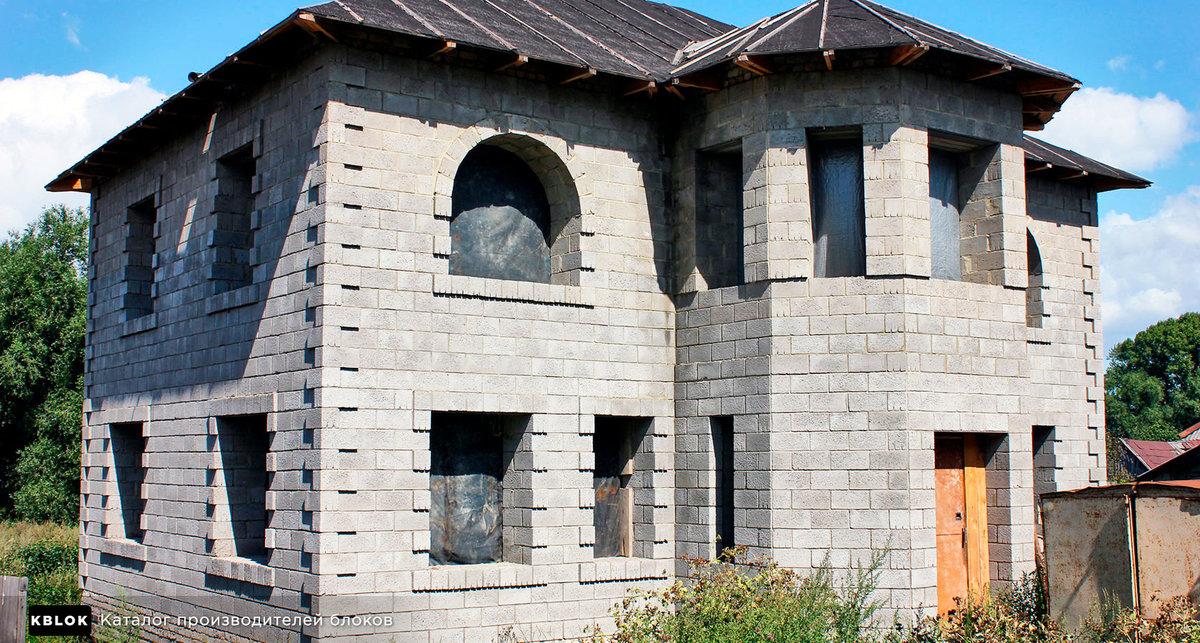 сколько стоит построить дом из шлакоблока