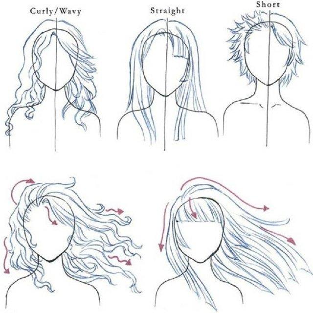 Волосы в картинках учимся