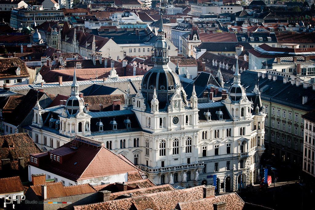 Богат достопримечательностями город Грац, второй по величине в Австрии