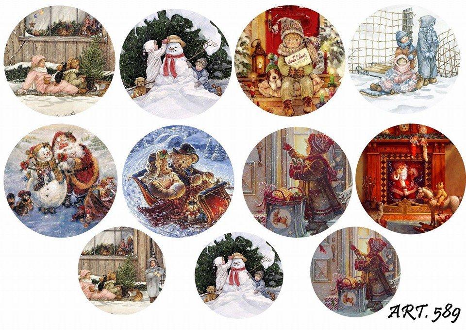 Картинки для декупажа новогодние для печати на принтере