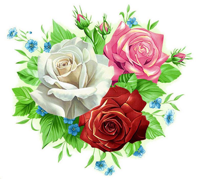 Букетики цветов картинки рисованные