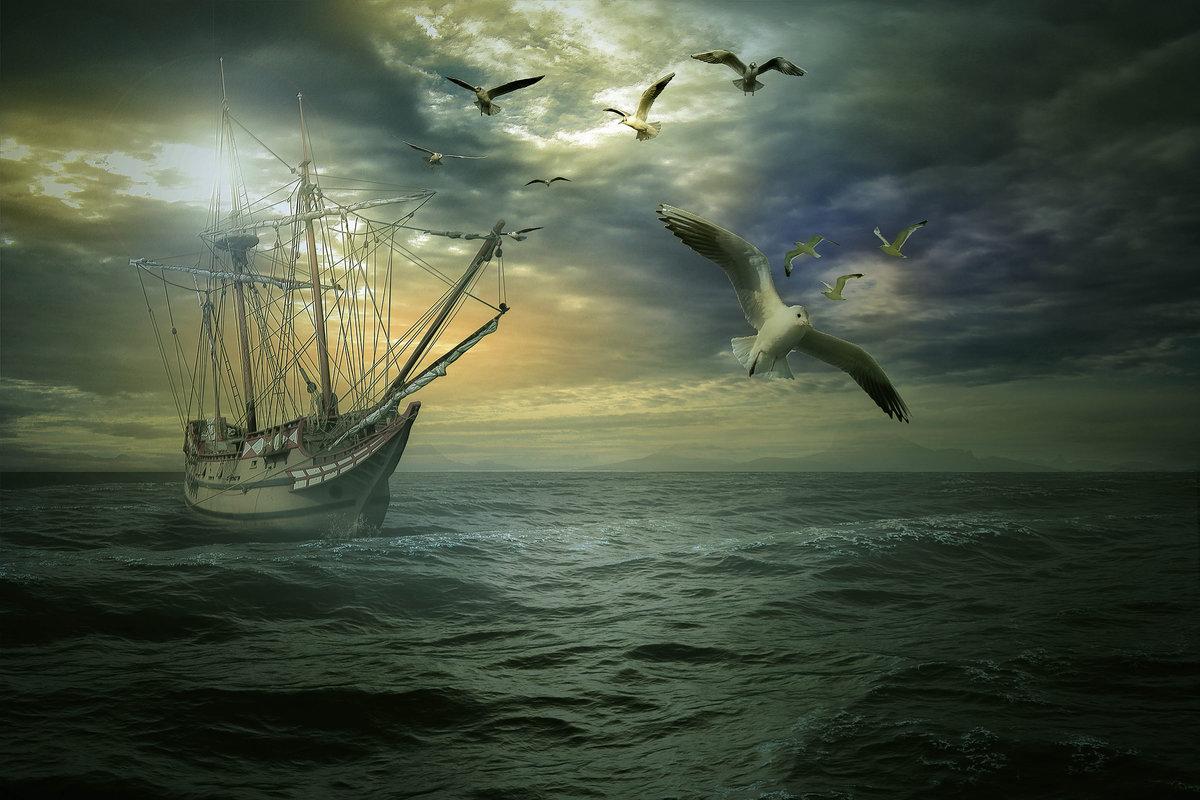 было картинки море парус чайки великобритания самая