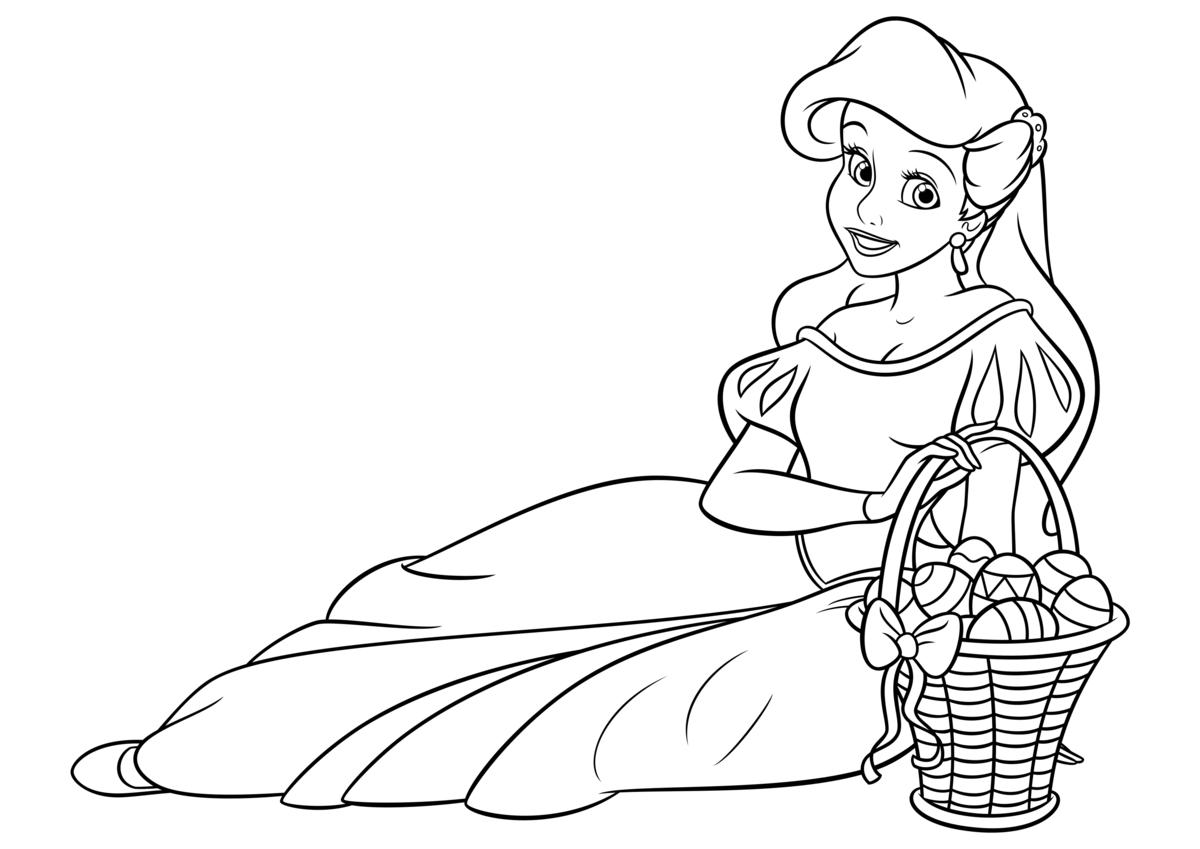 Печать картинки принцесс