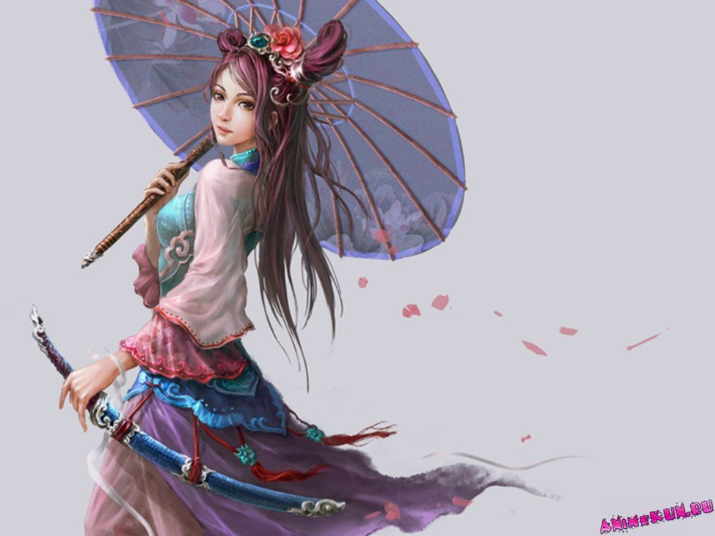 Girl asian anime pictures