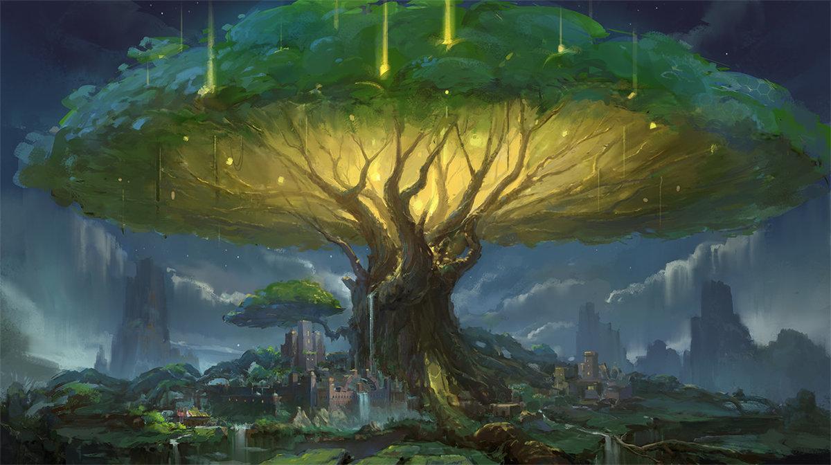 картинки деревья фэнтези фото документы