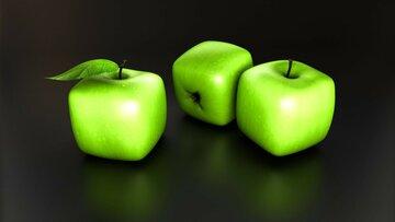 Картинки по запросу квадратное яблоко фото