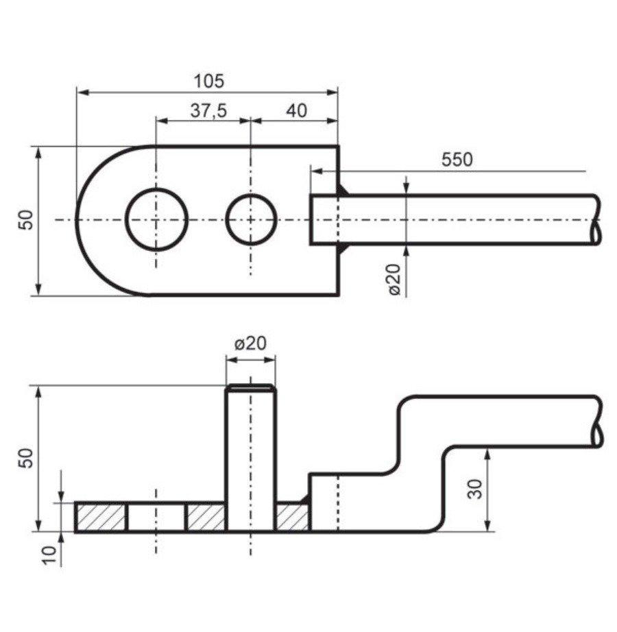 чертеж ручного станка для гибки арматуры