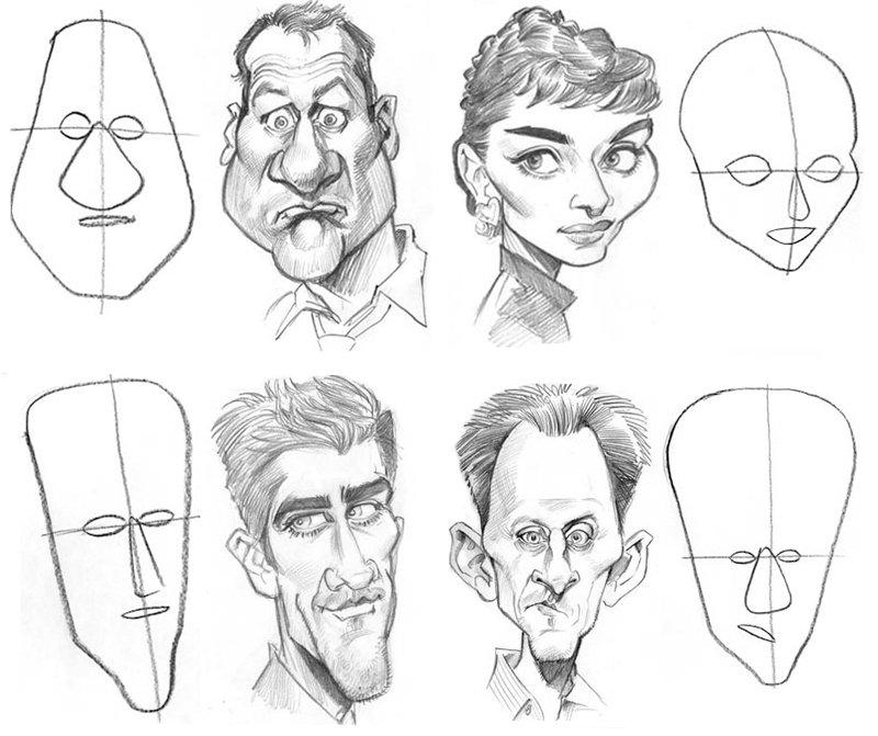 мультяшные люди рисунки карандашом схемы одобрили выбор дочери