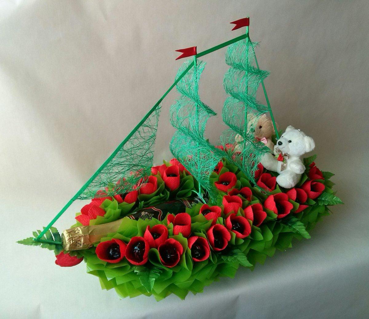 против лодка из конфет фото вас