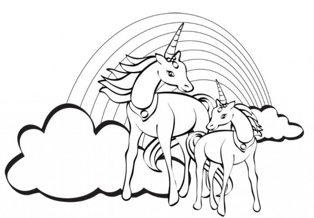 unicorn rainbow coloring pages Unicorn Rainbow Coloring Pages   Coloring Home