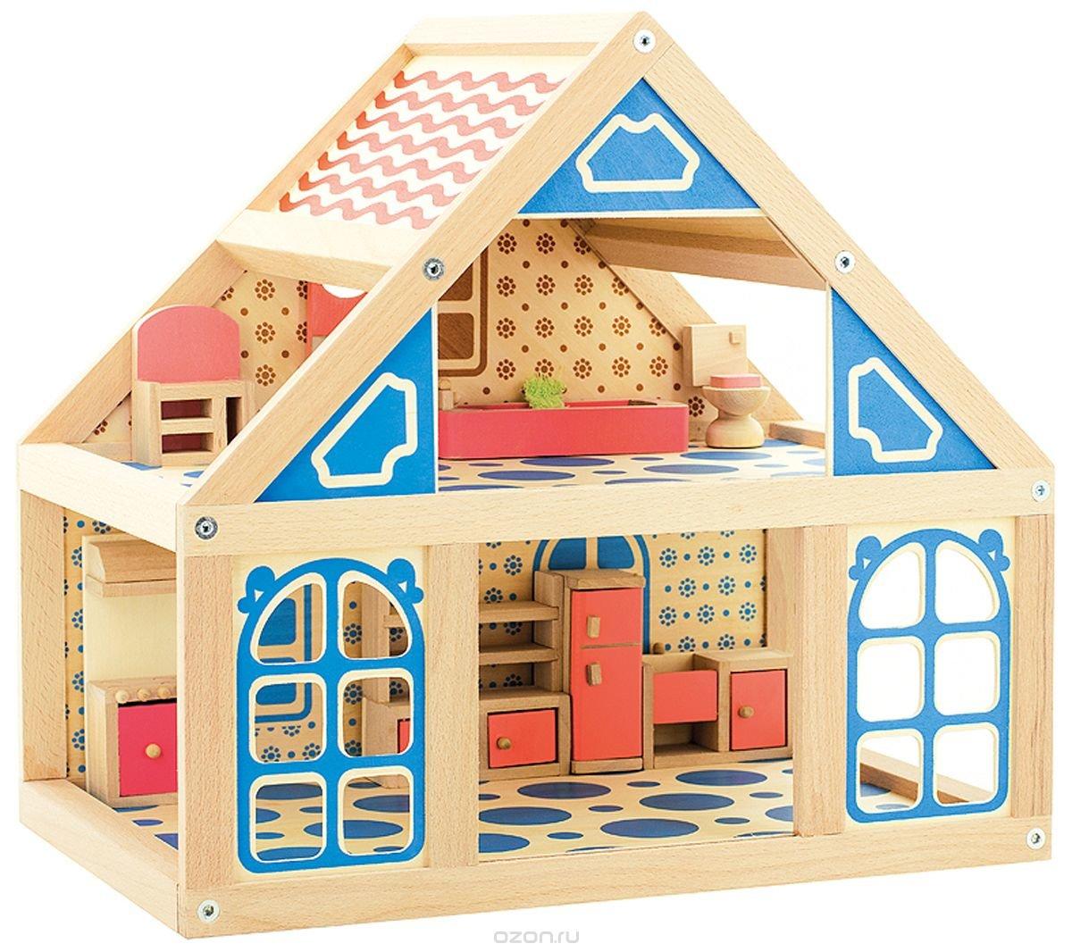 Игрушечные деревянные детские домики для детей