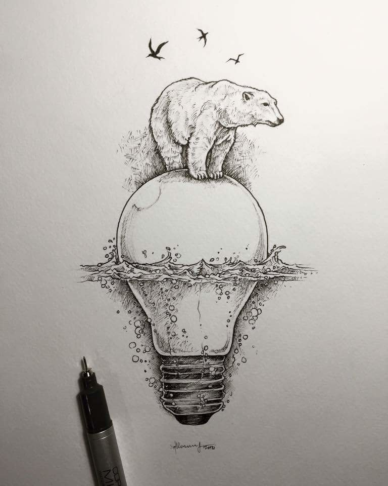 Саха гифы, прикольные необычные рисунки карандашом