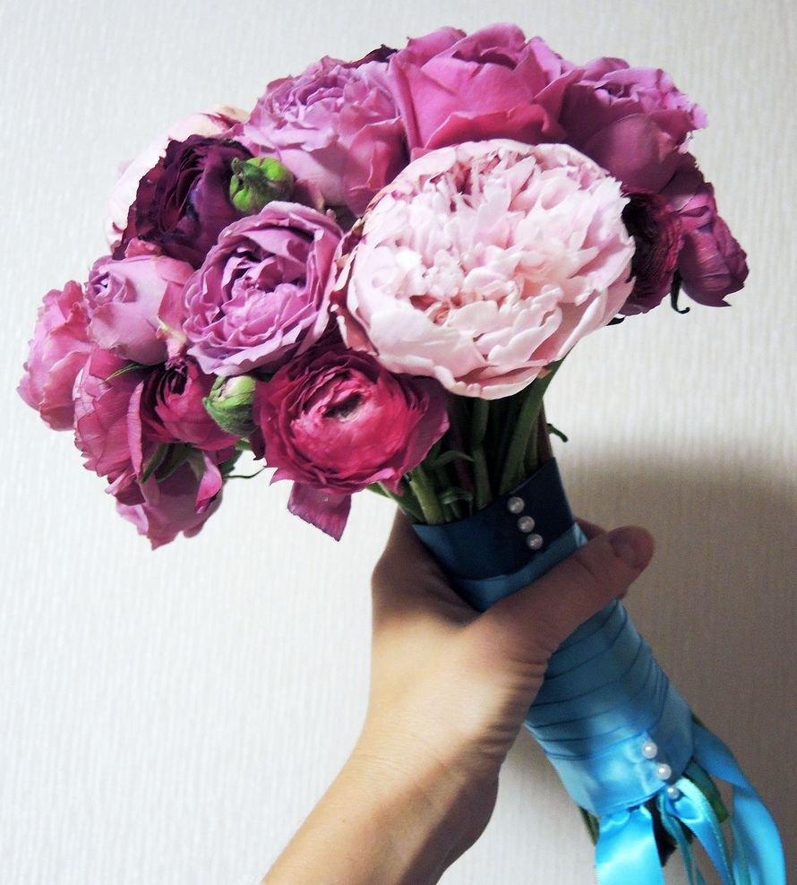 Недорогие букет из пионы своими руками, цветов