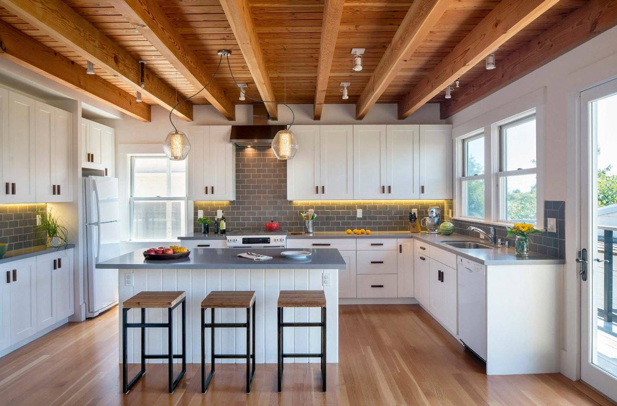 кухни картинки дизайн интерьера для частного дома бюджетный
