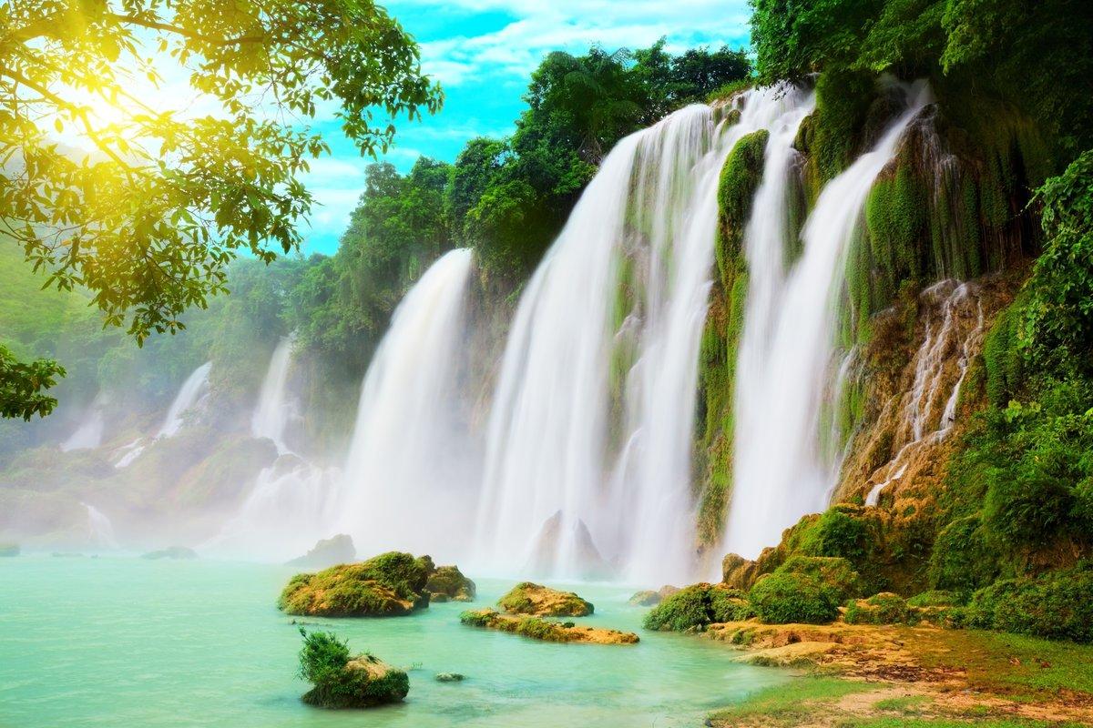 Красивые картинки водопада в хорошем качестве оставшиеся
