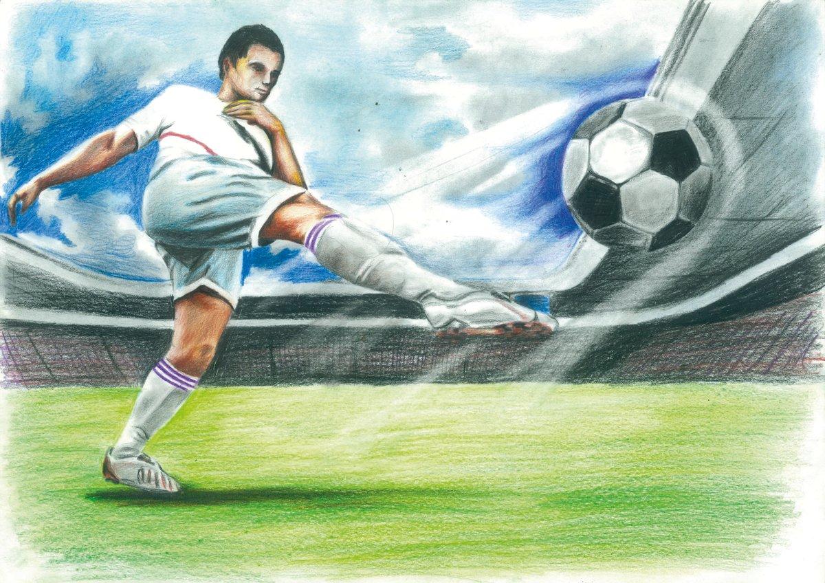 рисунки по футболу легкие вид подъемников может