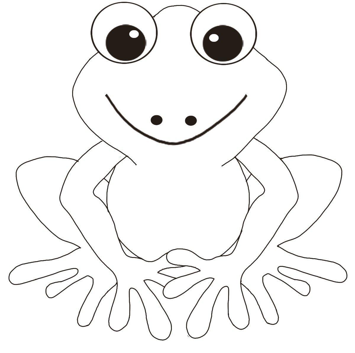 Рисунок лягушонка распечатать