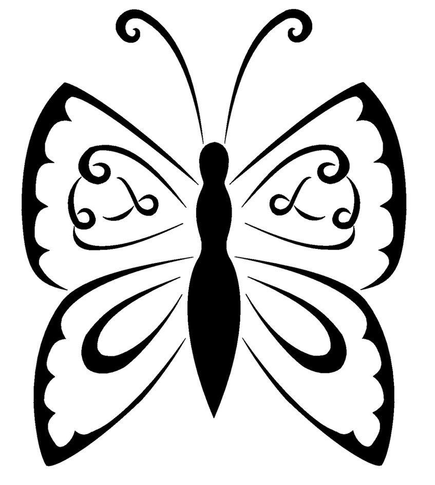 tribal butterfly drawings - 847×943