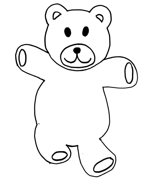 Картинка медвежонок для аппликации