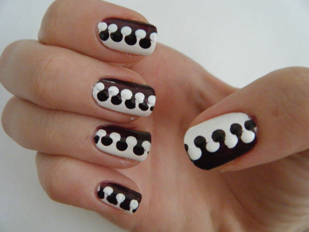 Легкий рисунок на ногтях картинки