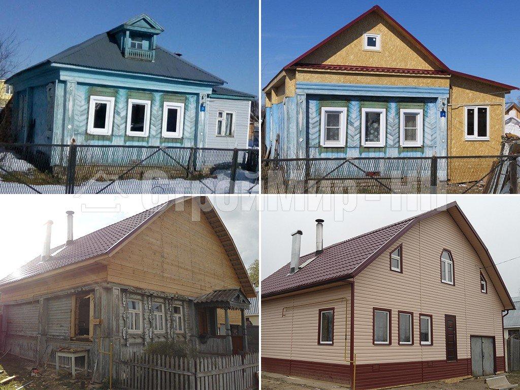 реконструкция деревянного дома фото до и после славится