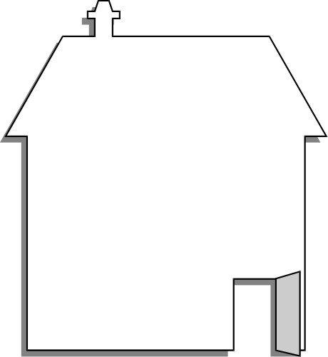 Картинка пустого домика многих людей