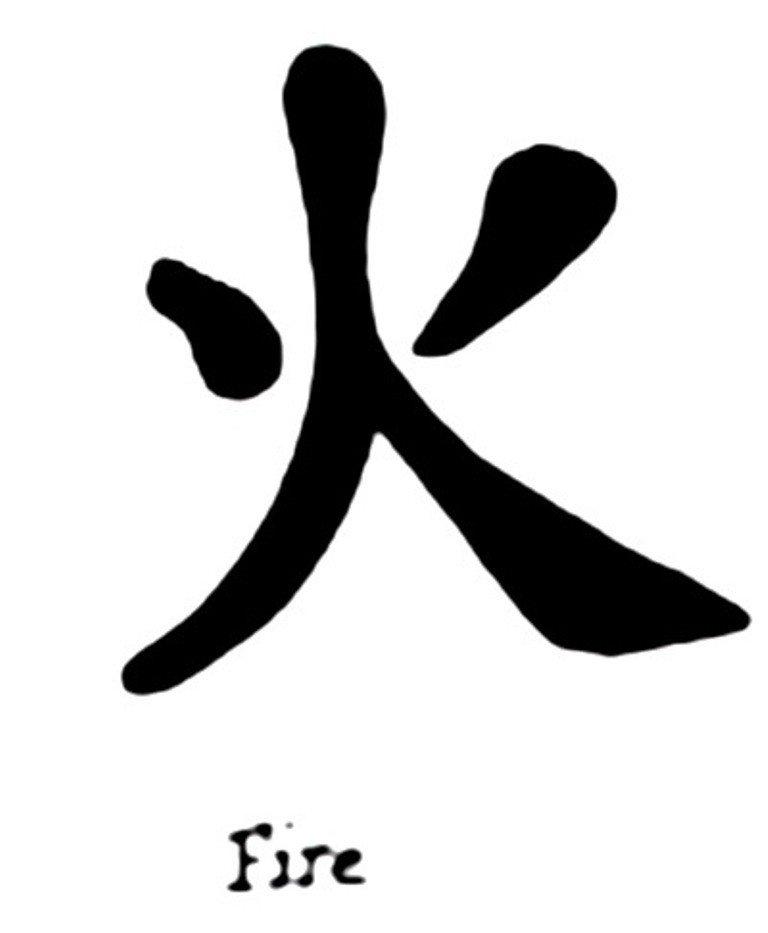 Японский иероглиф огонь картинка