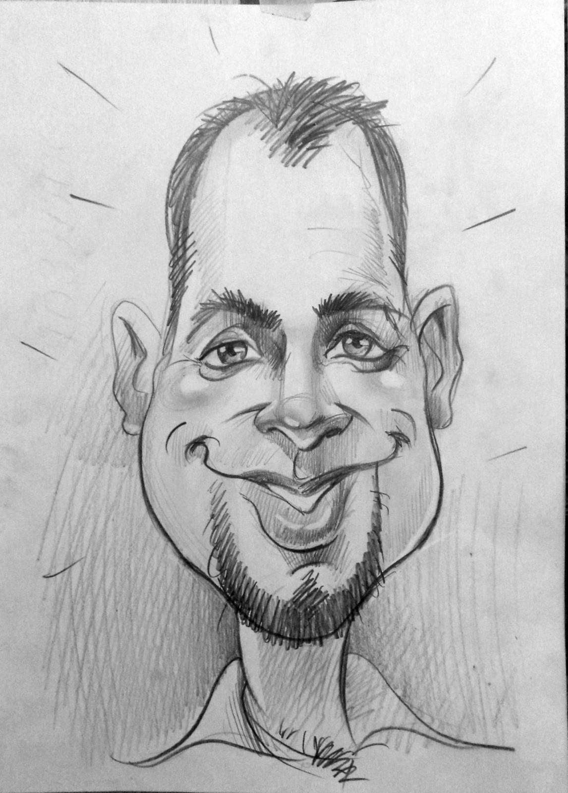 Рисунок смешного лица человека, блестящих открытках