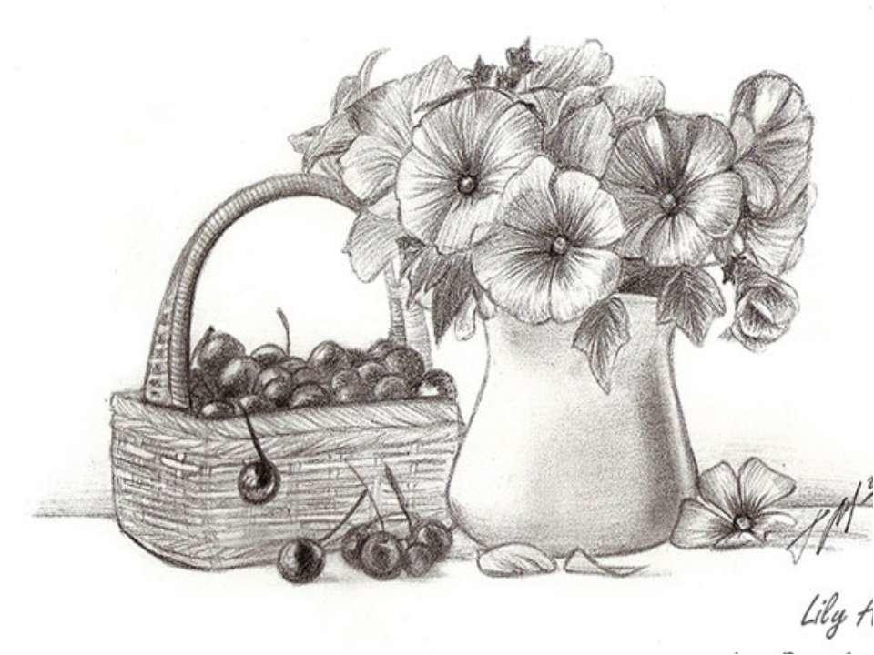 Картинки для срисовки прикольные натюрморты, дню