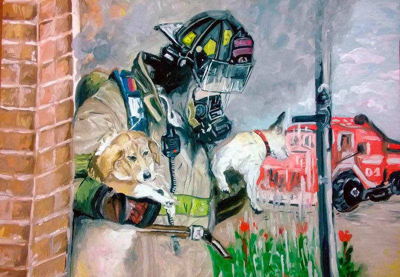 песни, картинки с пожарными красками песни пой, знай