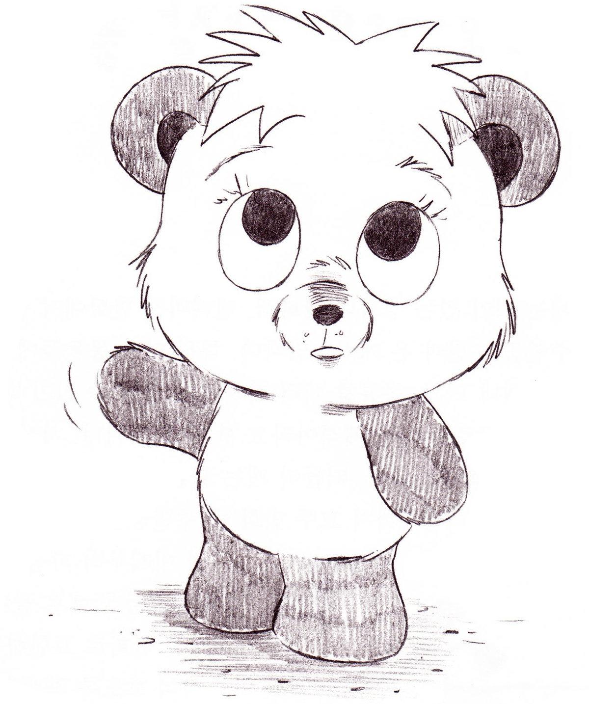 серьги животные рисунки карандашом легко панда часть тела
