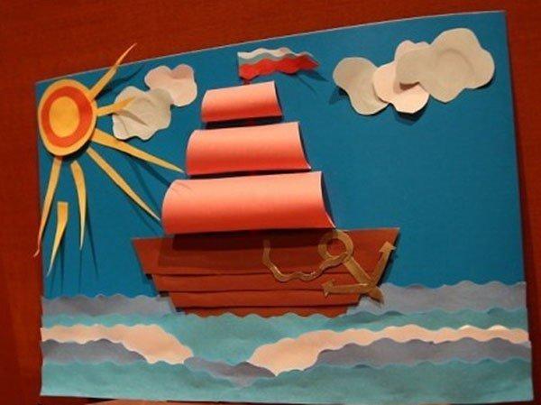 Поделки открытка с корабликом