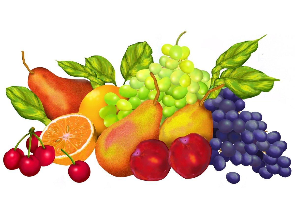 Картинки с фруктами красивые нарисованные