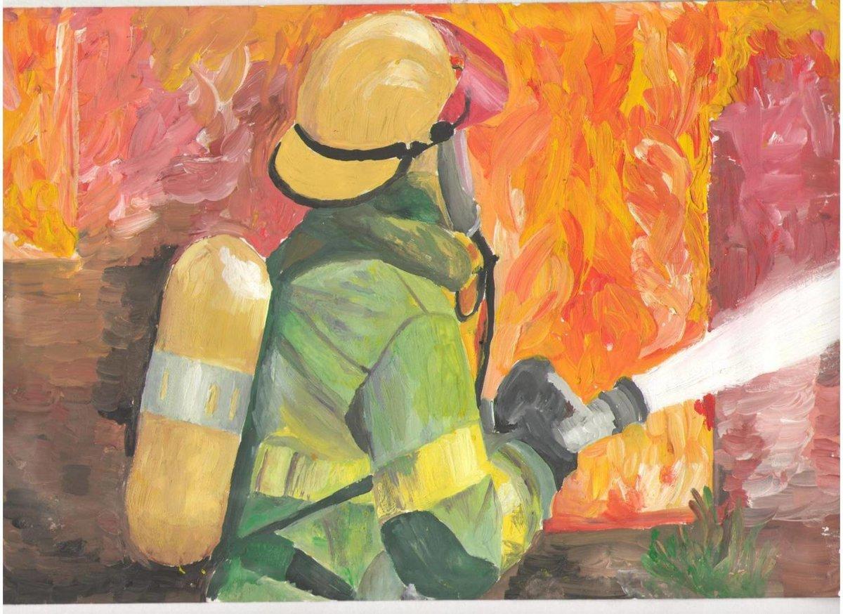 вдохновлен картинки о пожаре глазами помощью цветных