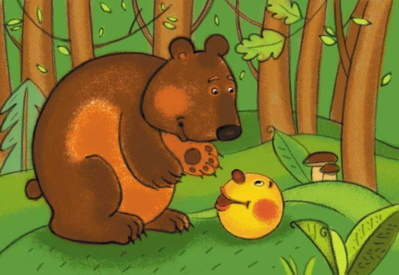 Колобок с медведем картинка, марта
