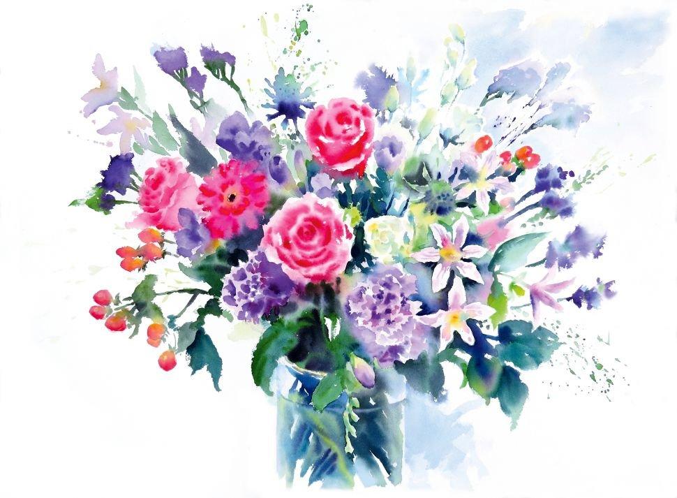 миссия букет цветов картинки акварель кому
