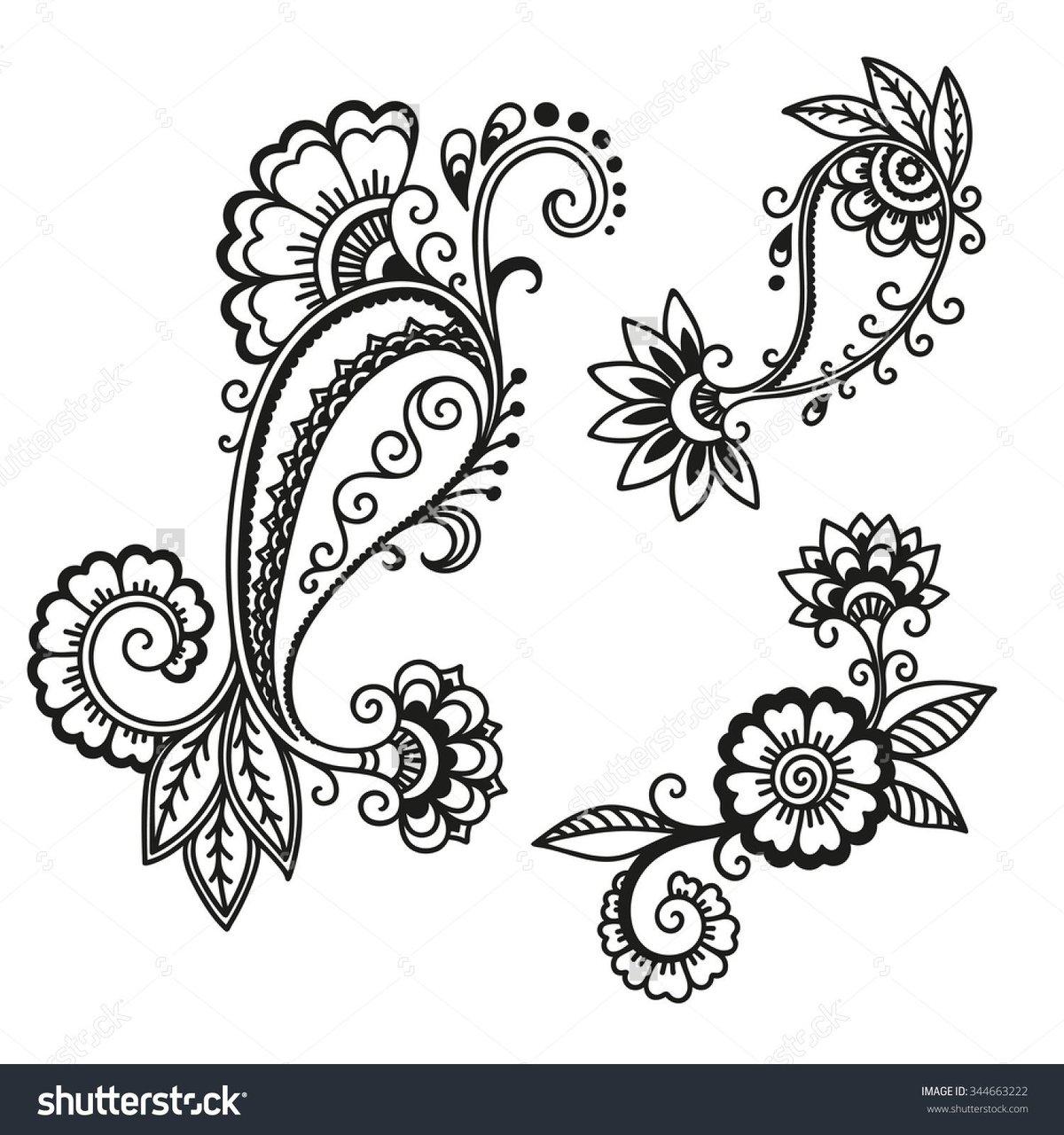 Henna Flower Designs Drawings Www Galleryhip Com The Hippe Card