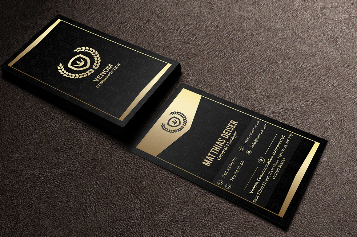 Black And Gold Business Card Psd Best Business Cards\