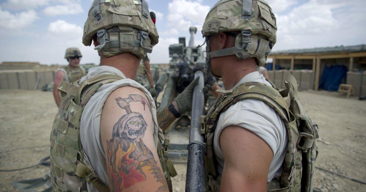 Фото военных татуировок