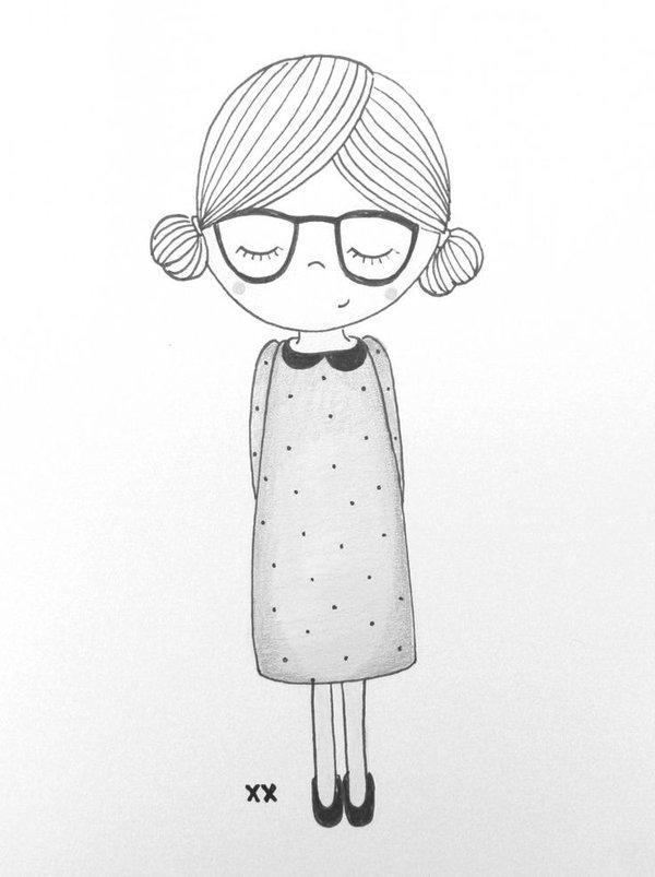 Милые картинки для срисовки в личный дневник для девочек наброски