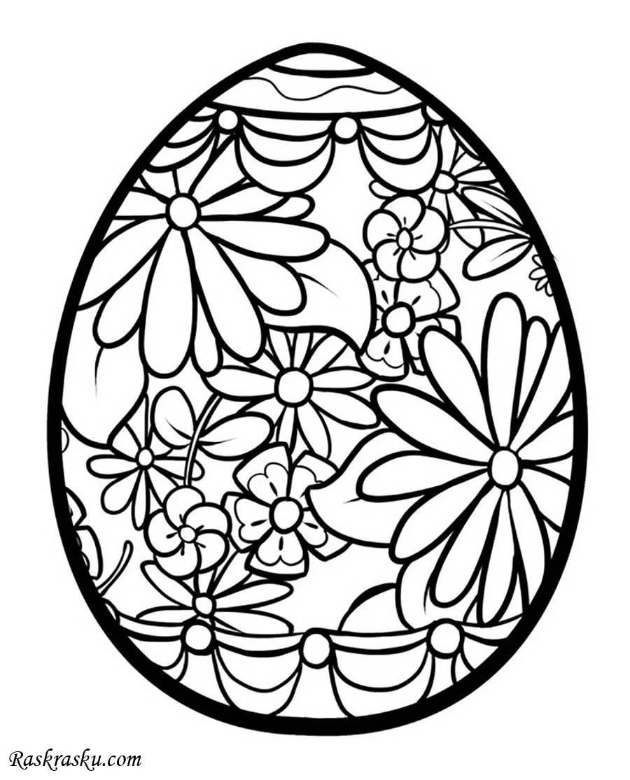 Картинки пасхальных яиц раскраски