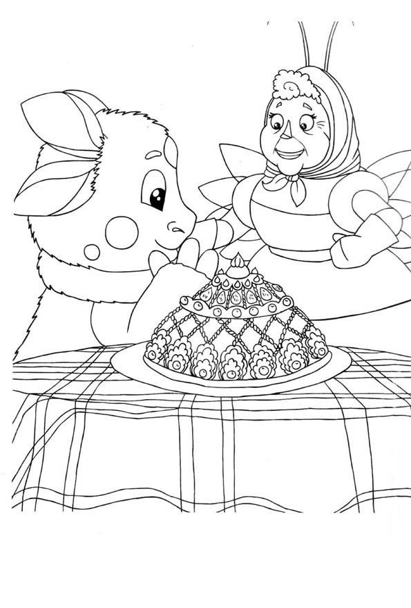 «Детская Раскраска Лунтик и его друзья распечатать ...