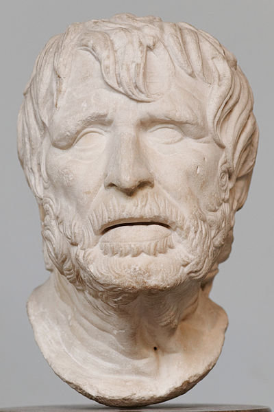 Скульптура, традиционно считавшаяся бюстом Сенеки, теперь идентифицирована как изображение Гесиода.