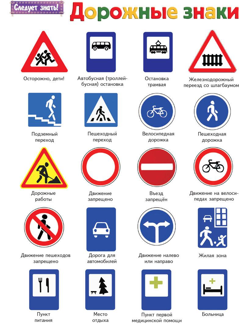 Дорожные знаки в картинках значения