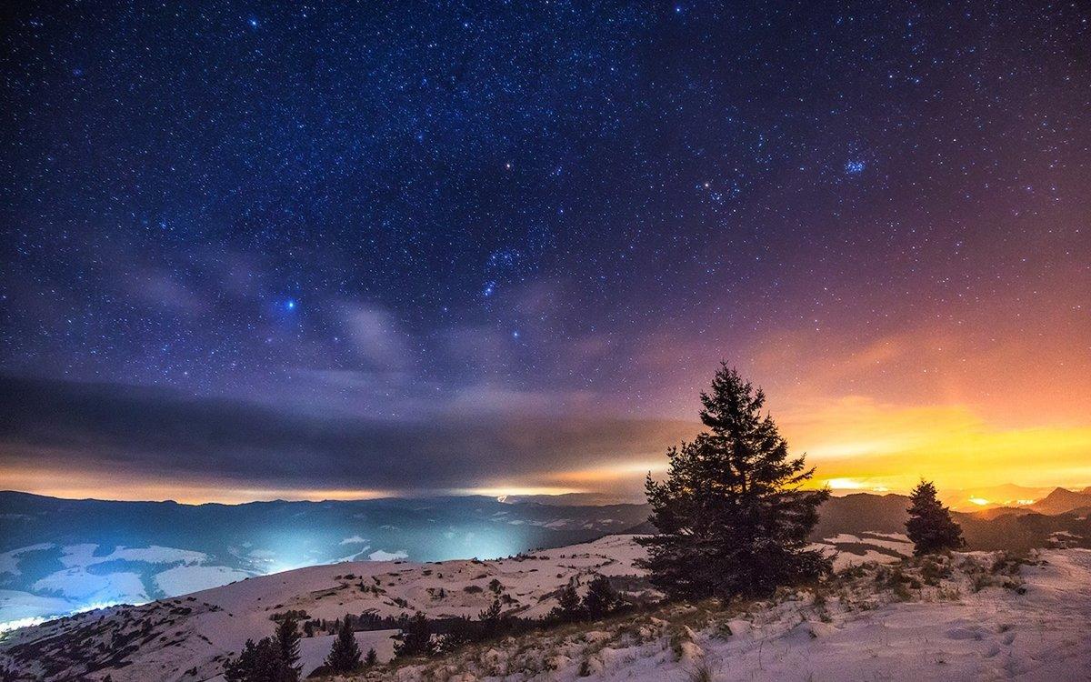Красивое звездное небо фото