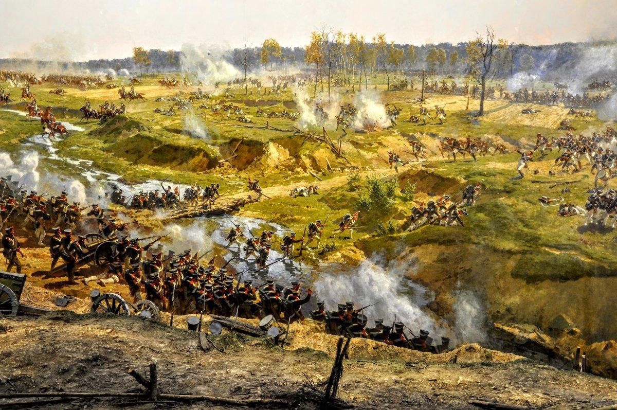 ландшафтным картинки начало бородинского сражения популярностью среди